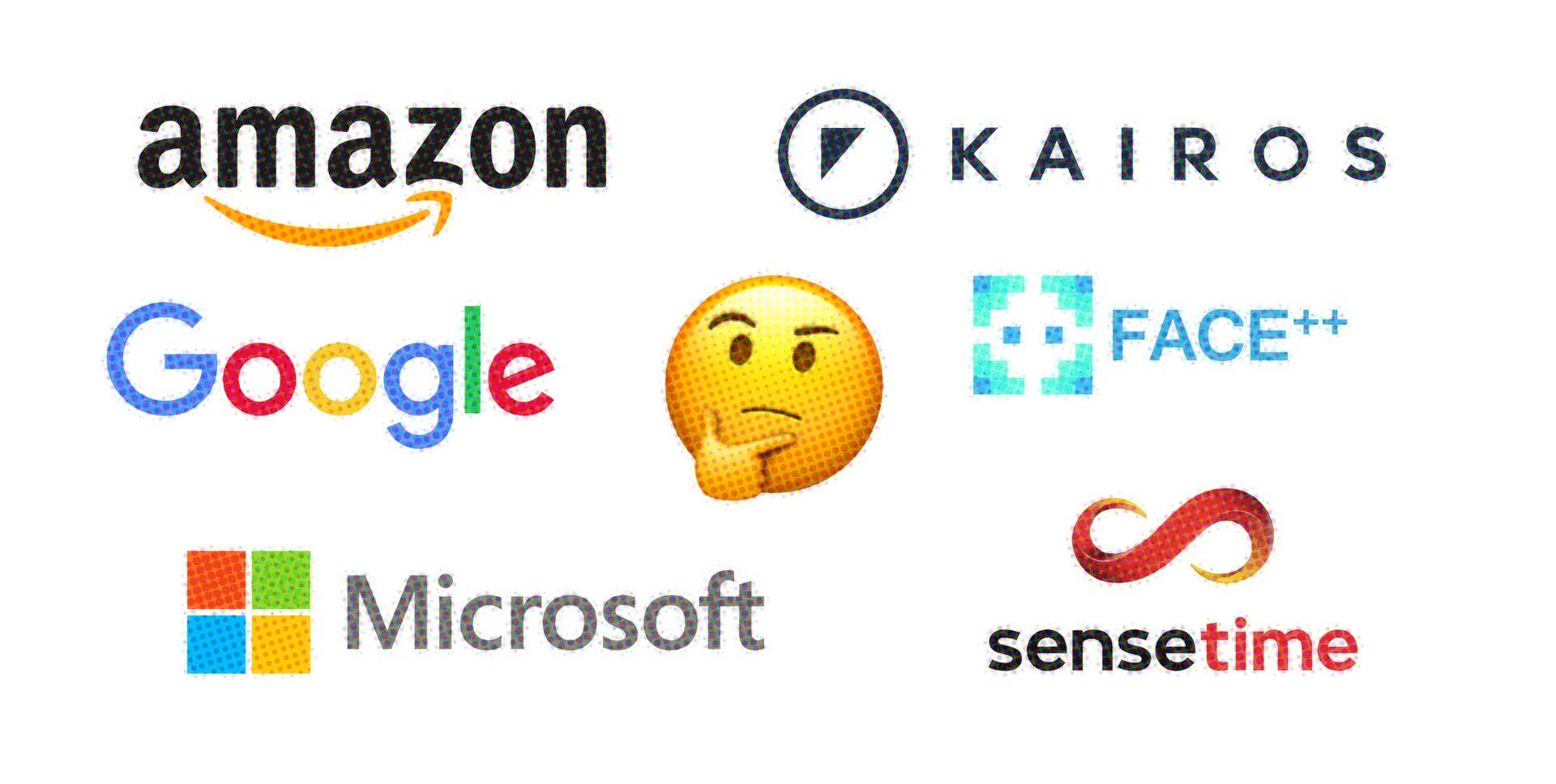 Comparing Kairos, Amazon Rekognition, Microsoft, Google, Face++, and SenseTime face recognition