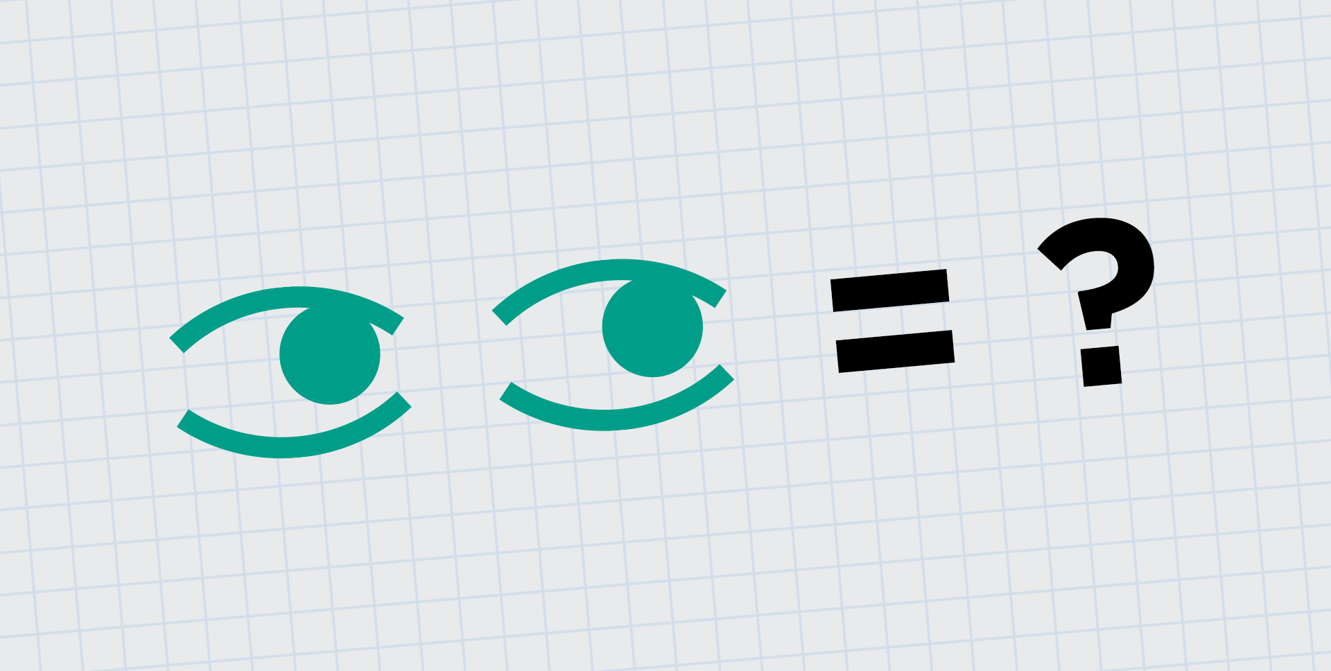 A pair of eye icons next to a question mark