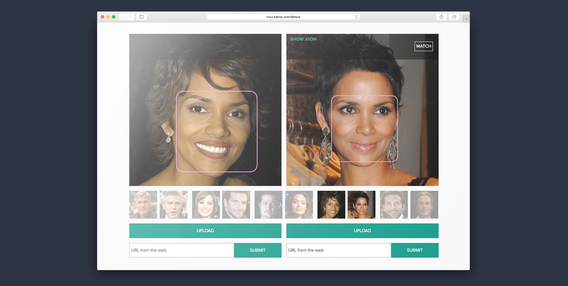 Kairos Facial Recognition Demos