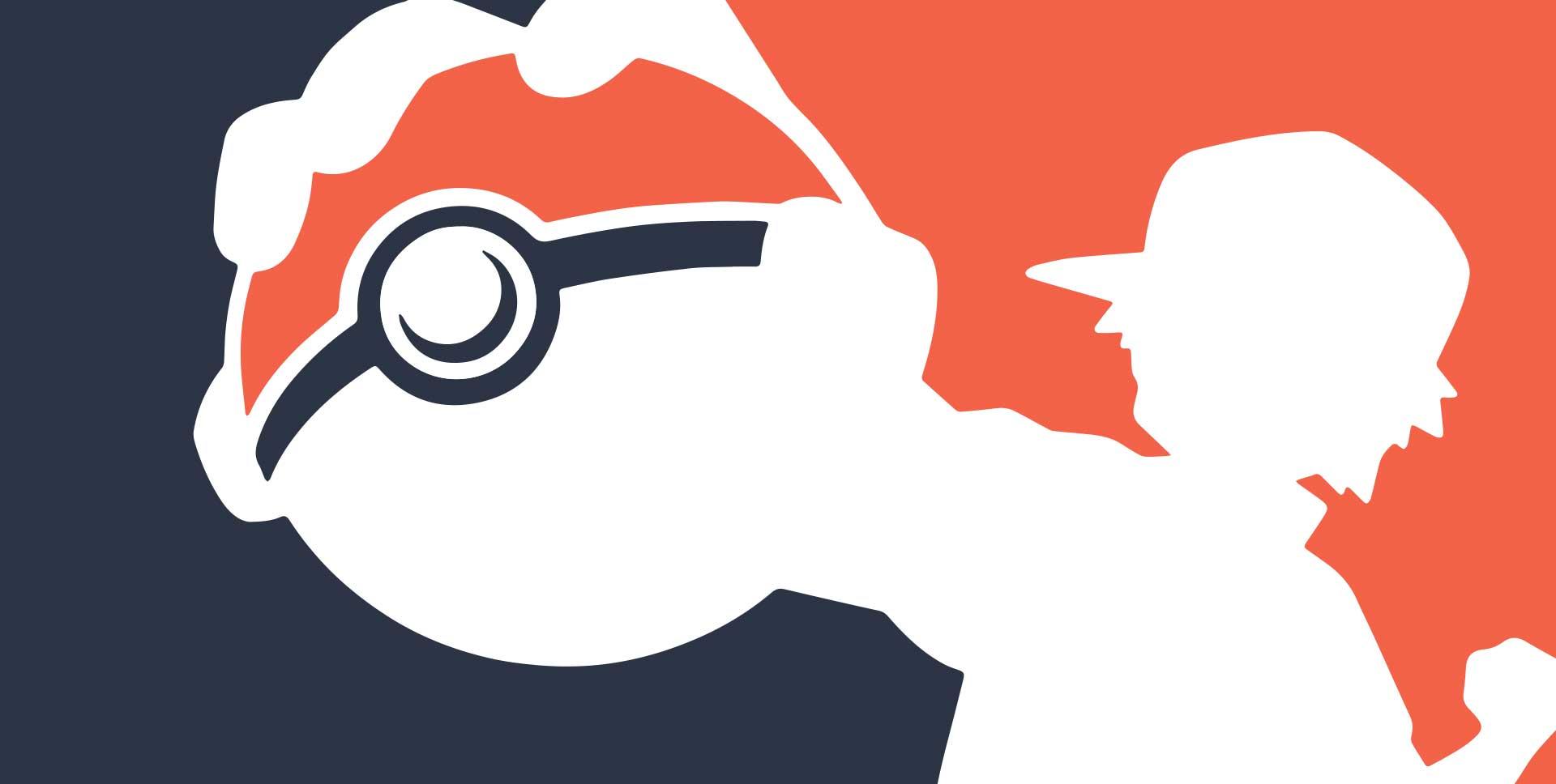 Image of Pokémon Go player, Ash, holding Pokémon ball