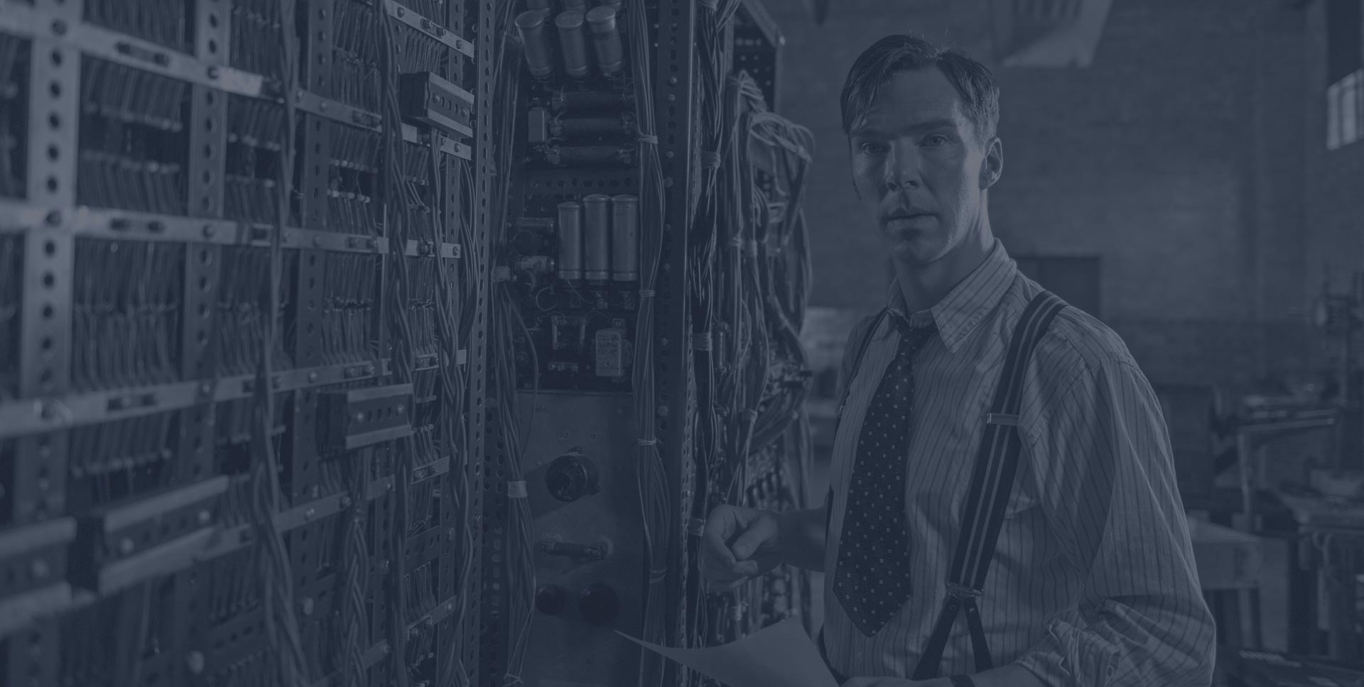 Actor Benedict Cumberbatch as Alan Turing in the 2014 movie 'The Imitation Game'