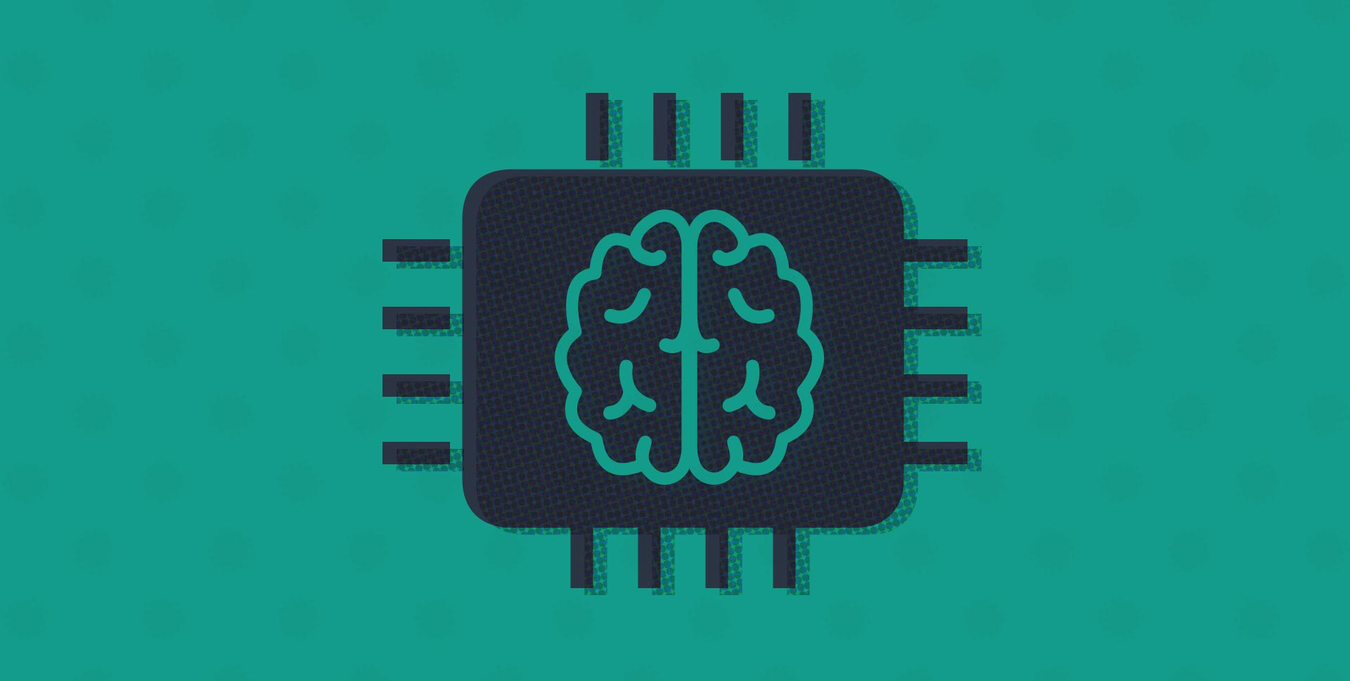 Illustration of a human brain on a computer chip symbolizing cognitive computing
